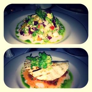 Mediterranean Chopped Salad & Lobster Taco