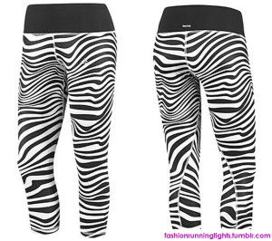 Fashion-Running-Tights-Of-The-Week-Zebra-3-4-Tights