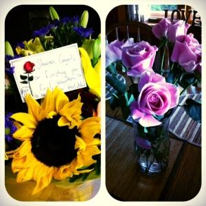 surprise marathon flowers