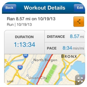 """a """"feeling good"""" paced run along the river only 6 days after my marathon (woot!)"""