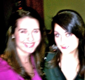 blurrrryyyy but the only pic i can find of us in recent years!